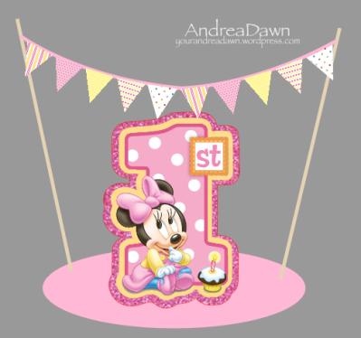 Cake Topper - Baby Minnie