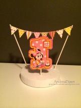 Baby Minnie Cake Topper