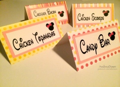 Baby Minnie Food Cards