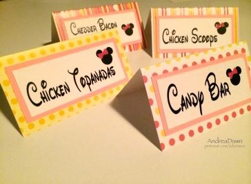 Baby Minnie Food Cards