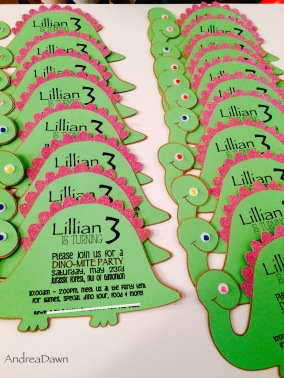 Custom Dinosaur Invitations