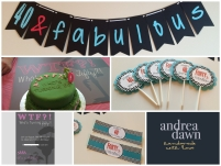 Adult Birthdays, Handmade Decorations Edmonton Calgary AndreaDawn