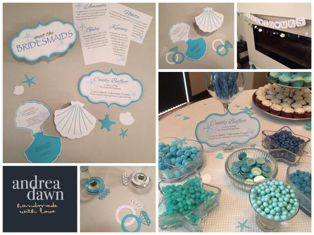 Bridal Showers, Handmade Decorations Custom Designed Edmonton Calgary AndreaDawn