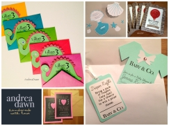 Handmade Party Invitations, Weddings, Events Birthdays Edmonton, Andrea Dawn