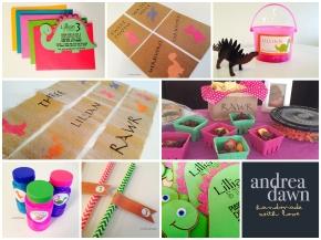 Kids Dinosaur Birthday, Handmade Decorations and Invitations Edmonton AndreaDawn