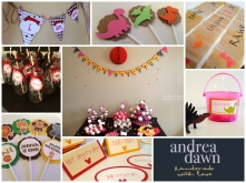 Handmade Birthday Decorations & Invitations Custom Designed Calgary and Edmonton, AndreaDawn