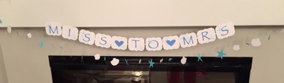 Miss to Mrs Bridal Shower Banner for Beach Theme