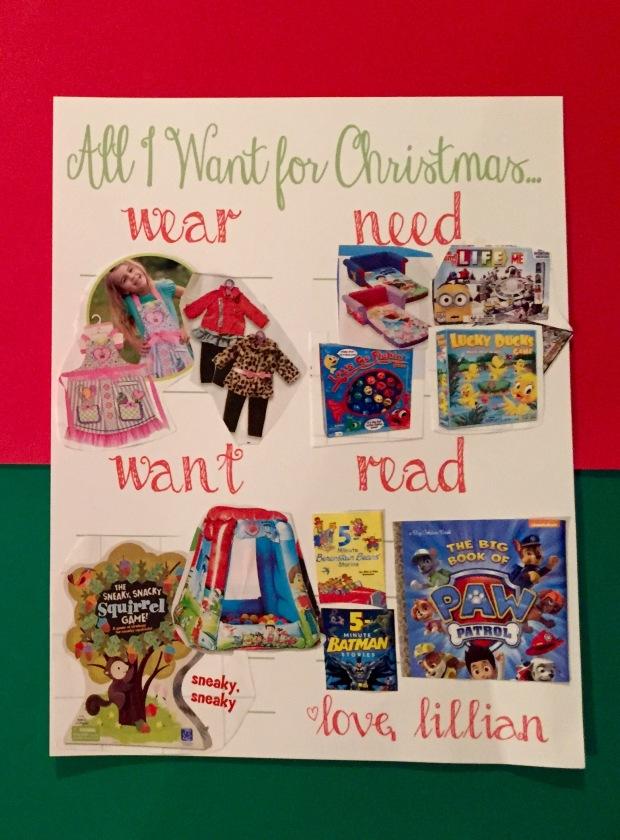 Christmas List Craft