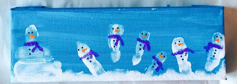 Snowmen Finger Painting for Kids DIY How To