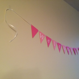 Welcome Baby, Baby Shower Banner