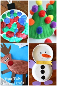 Paper Plate Christmas Kids Crafts