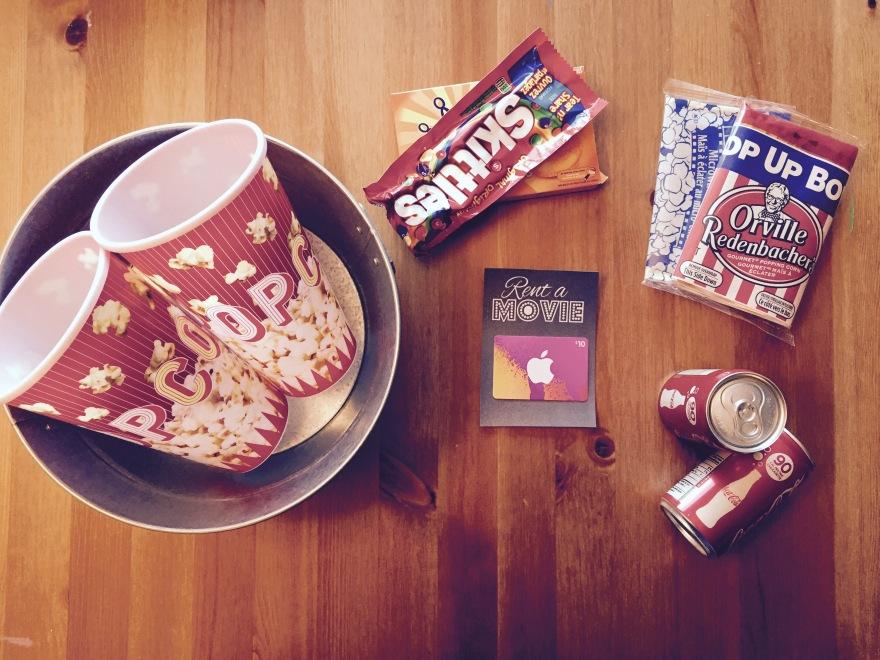 Movie Night in a Tin DIY Gift Basket