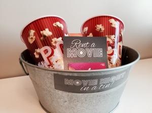 Movie Night in a Tin Gift Basket