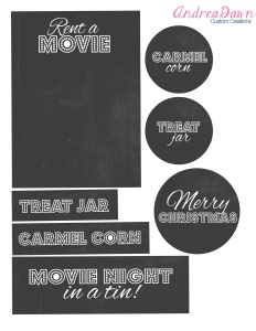 Movie Night in a Tin Free Printable