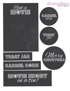 Movie Night in a Tin Free Printable