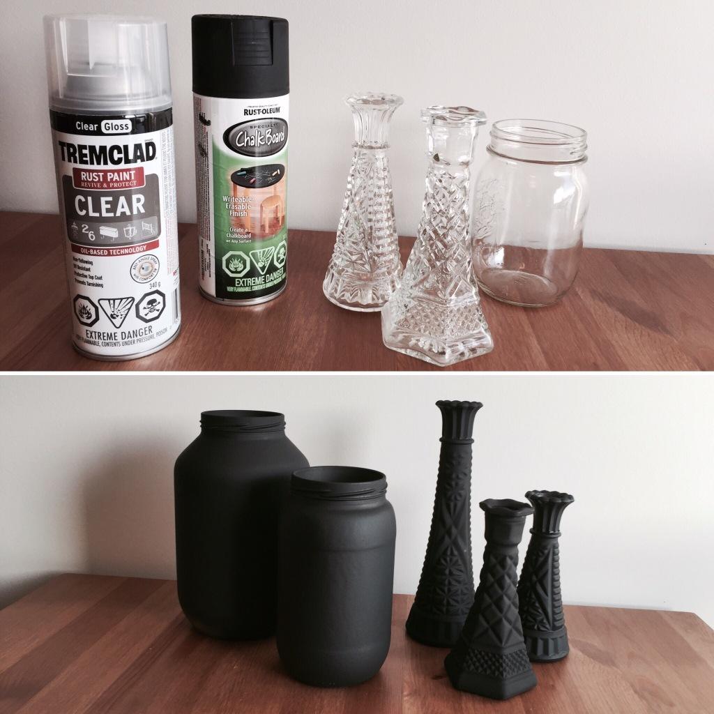 DIY Chalkboard Painted Mason Jars & Vases Tutorials
