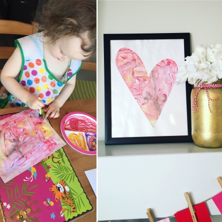 Valentines Heart Toddler Painting Craft