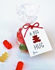 kids valentines bear cards printable DIY