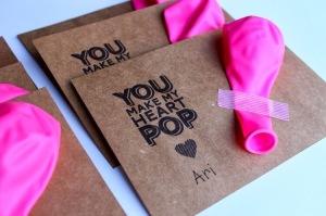 DIY Balloon Valentine Printable Card