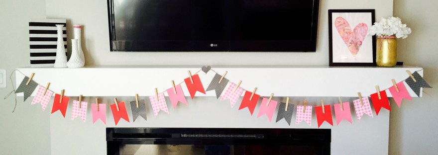Valentines Day Mantle DIY & Tutorials with Silhouette Cameo