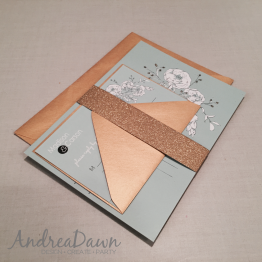 Mint & Gold Wedding Invitation