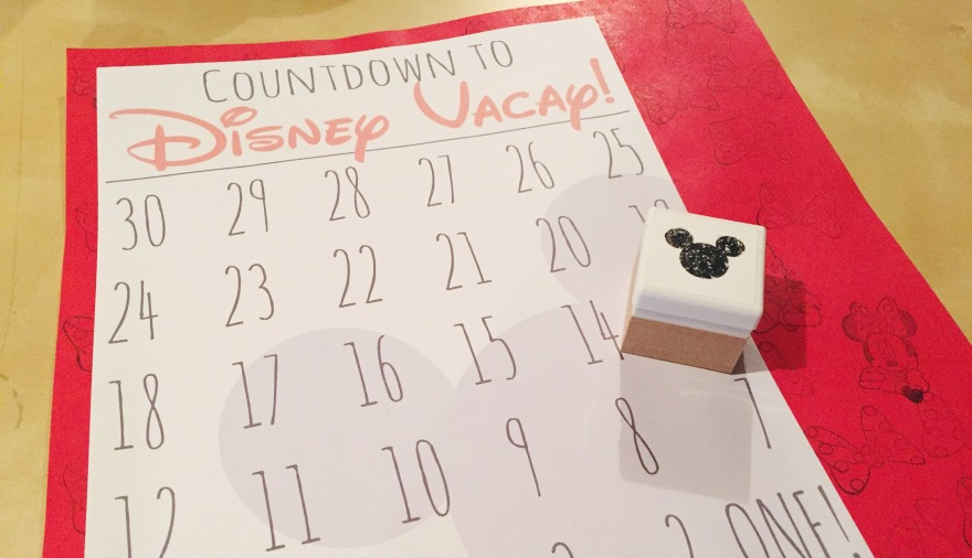 DIY & Free Printable Disney Vacation Countdown and Silhouette Mint Stamp
