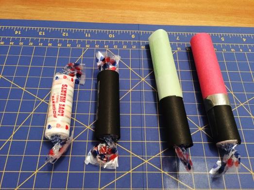 DIY Valentine Light Saber Candies Kids Craft