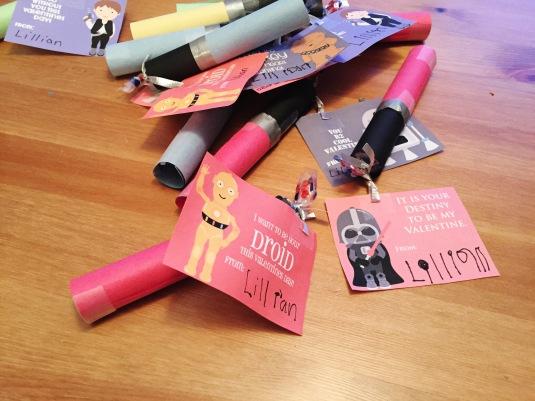 DIY Valentine Light Saber Candies & Free Printable Card for Kids