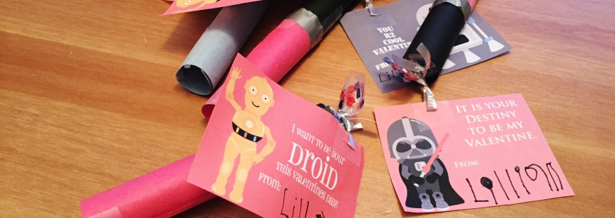 DIY How-To Light Saber Star Wars Valentines Candies