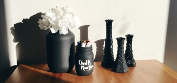 DIY Spray Painted Mason Jars & Vases