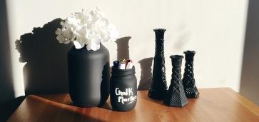 DIY Spray Painted Mason Jars & Vases