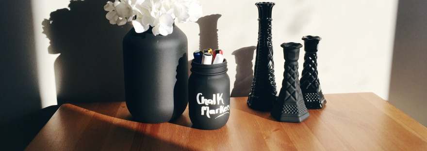 DIY Spray Painted Milk Vases & Mason Jars Vases