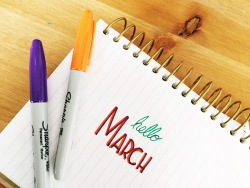 Hello March - Hand Lettering