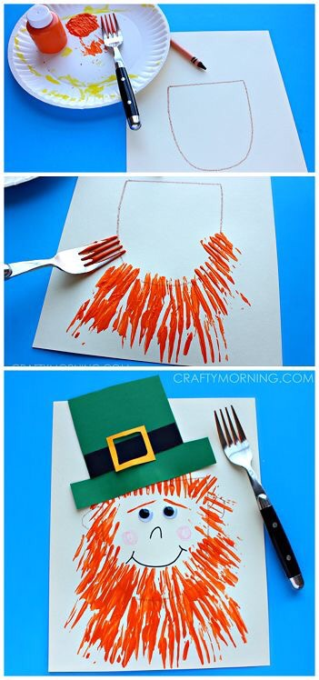 St. Patricks Day Leprochaun Kids Painting