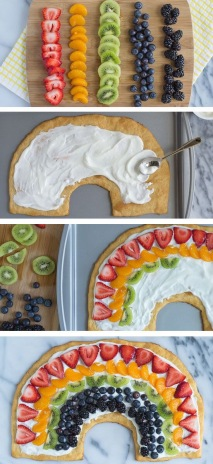 St. Patrick's Day Rainbow Fruit Pizza