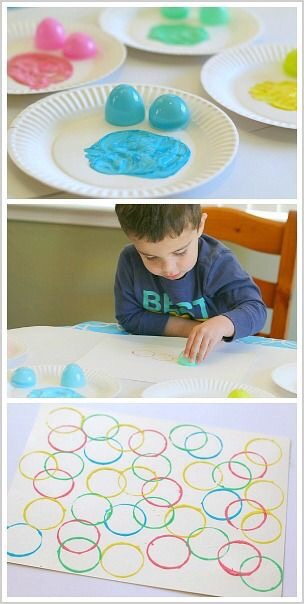 Kids Easter Egg Painting Craft