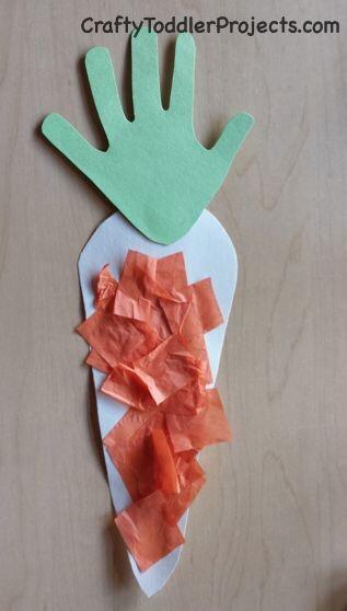 Handprint Carrot Easter Craft