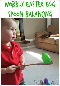 Wobbly Easter Egg Spoon Balancing