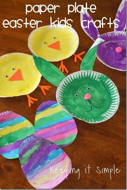 Paper Plate Easter Crafts for Toddlers and Kids