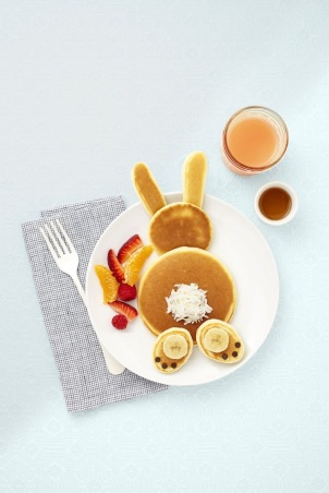 Easter Bunny Shaped Pancake