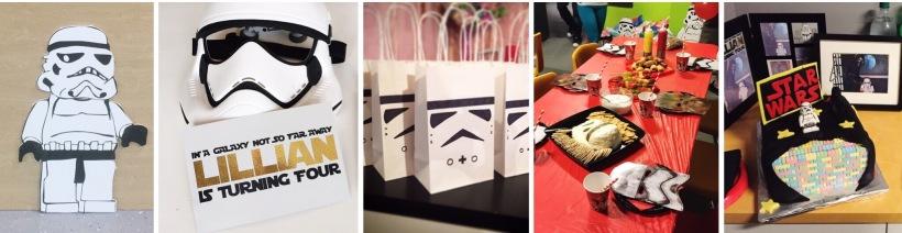 LEGO Star Wars 4th Birthday Invitations, Food & Decorations