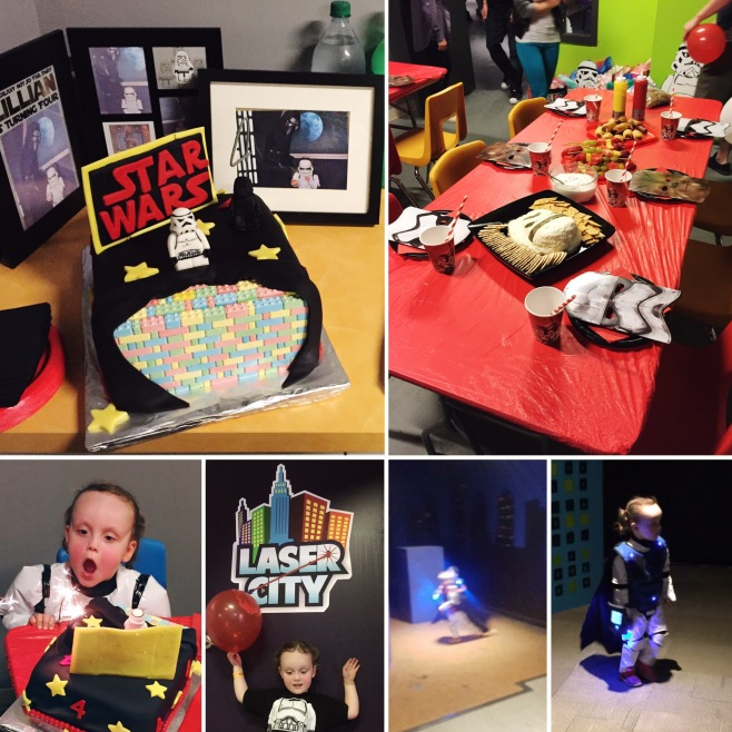 LEGO Star Wars Laser Tag 4th Birthday Party