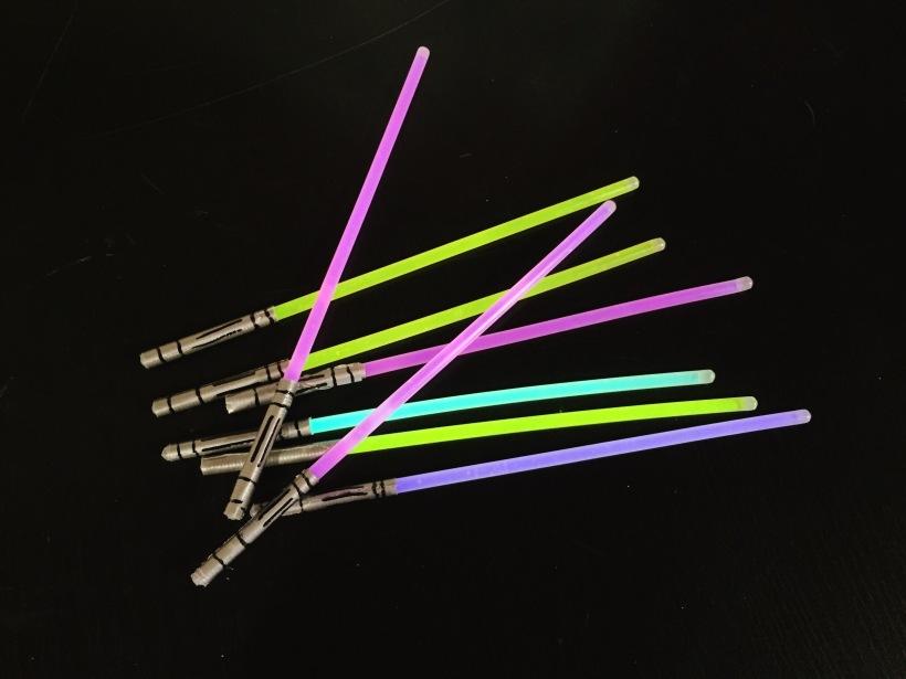 DIY Glow Stick Star Wars Light Sabers for Kids
