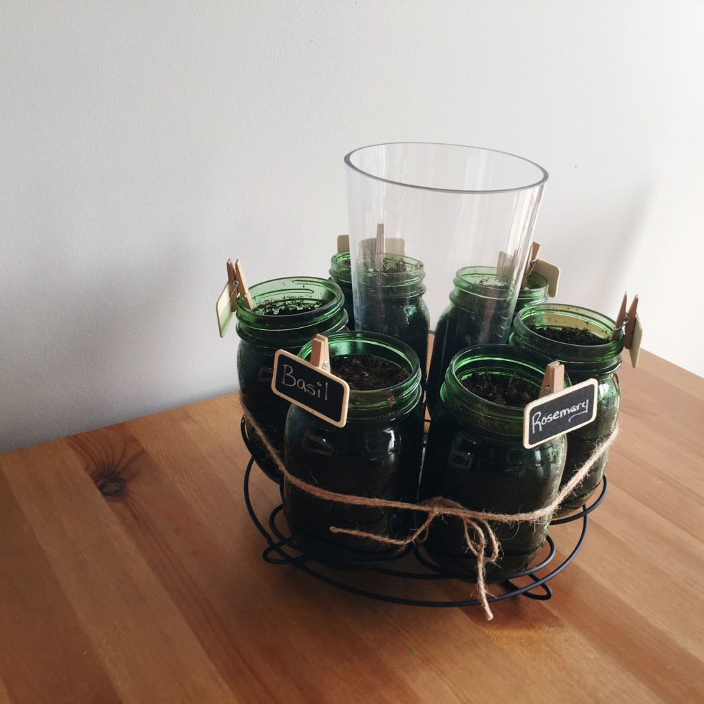 DIY Herb Garden Mason Jars