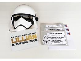 LEGO Star Wars Storm Trooper Birthday Invitations Invites