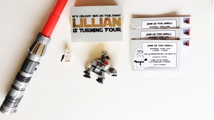 LEGO Star Wars Birthday Invitations