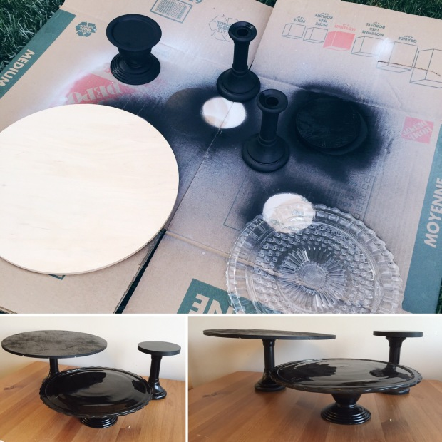 DIY Candlestick Cake Stand How To