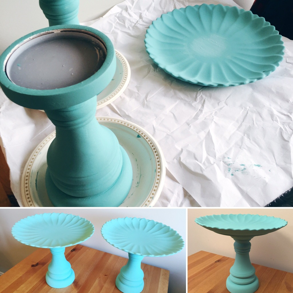 DIY How To make a cake stand spray paint