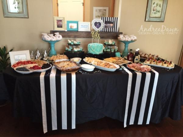Tiffany Bridal Shower Food Table Setting Calgary