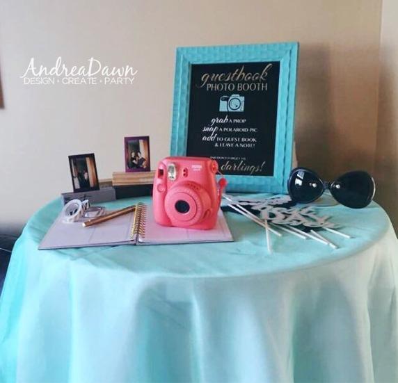 Bridal Shower Polaroid Photo Booth Guest Book PDF Print Calgary Edmonton